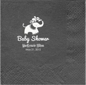 Elephants Baby Shower Custom Lunch Napkins