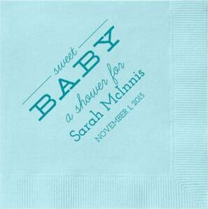 Sweet Baby Custom Cocktail Napkins