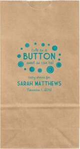 Button Baby Shower Small Custom Favor Bags