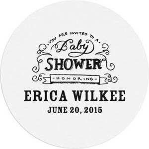 Chalkboard Baby Shower Custom Coasters