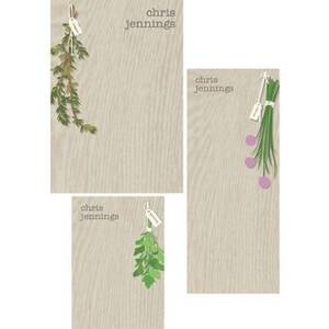 Herbs Mixed Personalized Note Pads