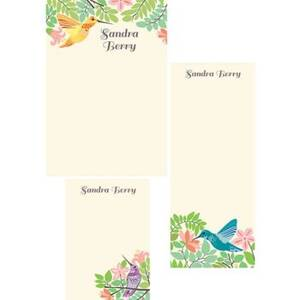 Hummingbird Mixed Personalized Note Pads