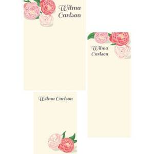 Peonies Mixed Personalized Note Pads