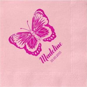 Butterfly Custom Cocktail Napkins