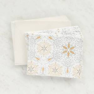 White Gold Silver Glitter Stationery Set