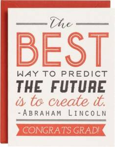 Predict Future Letterpress Graduation Card