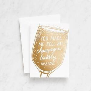 Champagne Bubbly Greeting Card