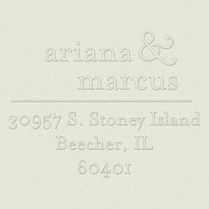 Ampersand Return Address Embosser