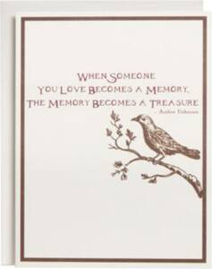Memory Becomes A Treasure Sympathy Card