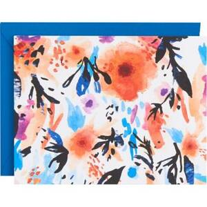 Abstract Watercolor Floral Stationery Set