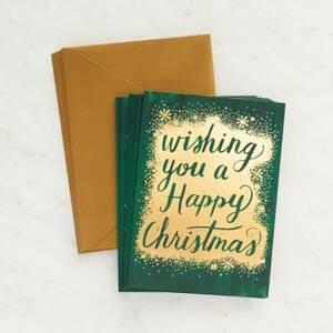 Happy Christmas Holiday Card Set