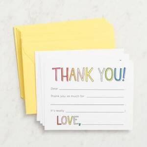 Rainbow Thank You Cards