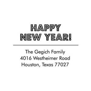 Marquee New Year Custom Stamp