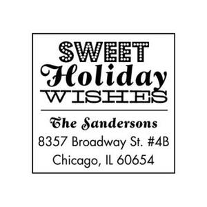 Sweet Holiday Wishes Custom Stamp