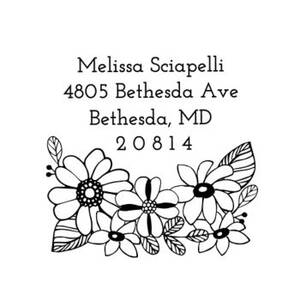 Sketch Flower Custom Stamp