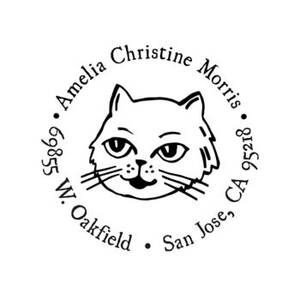 Cat Circle Custom Stamp