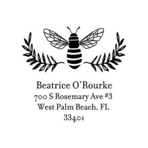 Bee Laurel Custom Stamp