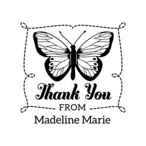 Butterfly Thank You Custom Stamp