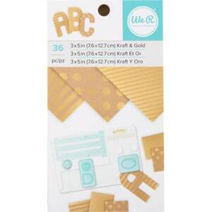 "Kraft and Foil 3"" x 5"" Pad"