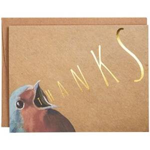 Gold Foil Bird Thank...