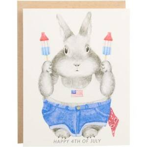 Bunny Ice Pops Fourth of July Greeting Card