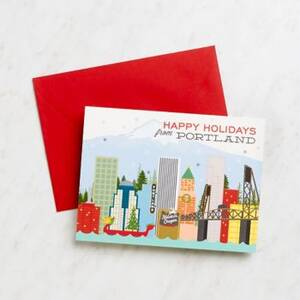 Happy Holidays From Portland Stationery Set