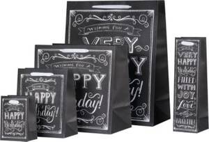 Extra Large Happy Birthday Chalkboard Gift Bag