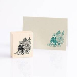 Sketch Flower Rubber Stamp