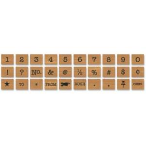 Cavallini Numbers & Symbols Rubber Stamp Set