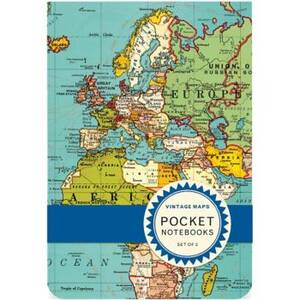 Vintage Maps Pocket Journals
