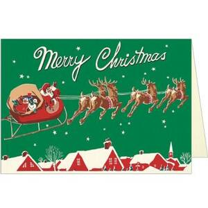 Santa And Sleigh Card