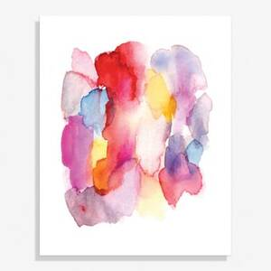 Abstract Watercolor Medium Art Print