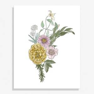 Garden Florals Medium Art Print