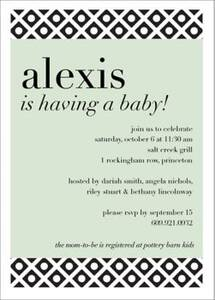 Lattice Baby Shower Invitation
