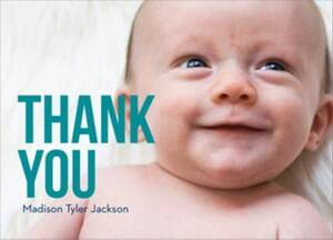 Lower Bebas Photo Baby Thank You Notes
