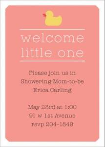 Welcome Ducky Baby Shower Invitation
