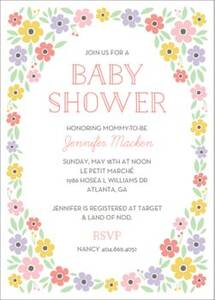 Floral Frame Baby Shower Invitation