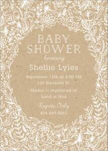 Wedding Flowers Baby Shower Invitation