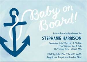 Baby On Board Baby Shower Invitation
