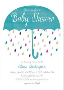 Colorful Baby Shower Invitation