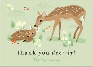 Deer Baby Thank You...