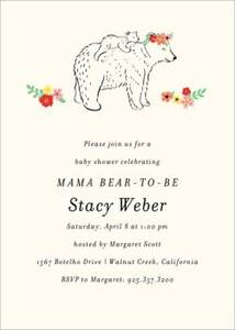Mama Bear Baby Shower Invitation