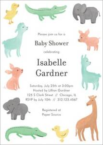 Soft Animals Baby Shower Invitation