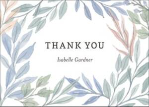 Soft Foliage Thank You Notes