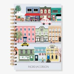 12-Month City Scene Custom Planner