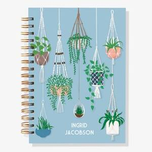 12-Month Hanging Plants Custom Planner
