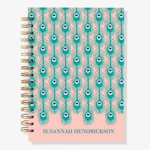 12-Month Peacock Feather Custom Planner