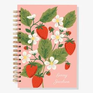 17-Month Strawberry Custom Planner