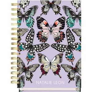 17-Month Butterflies Custom Planner