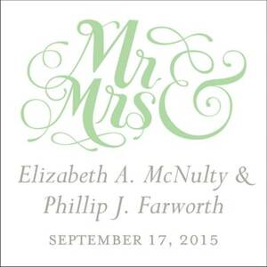 Mr. & Mrs. White Gift Tag Label